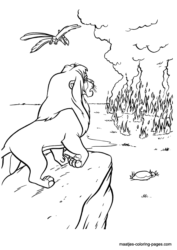 Lion King 2 Kovu Coloring Pages