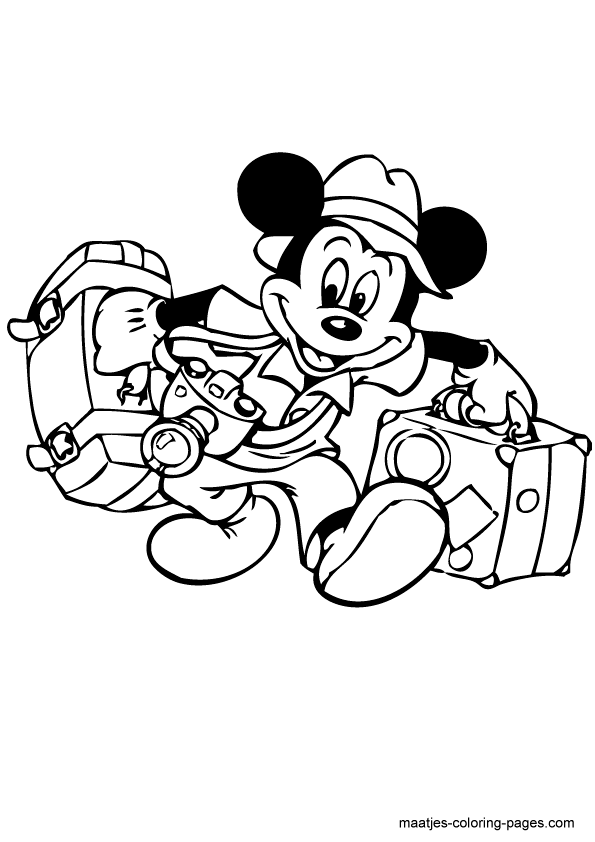 - Mickey Mouse Coloring Page