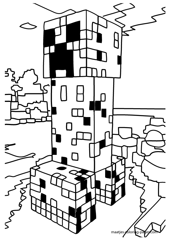 minecraft coloring pages of dantdm - photo#33