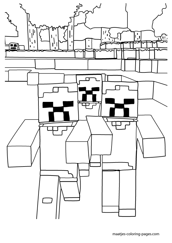 Free Printable Minecraft Games Coloring Pages for Children