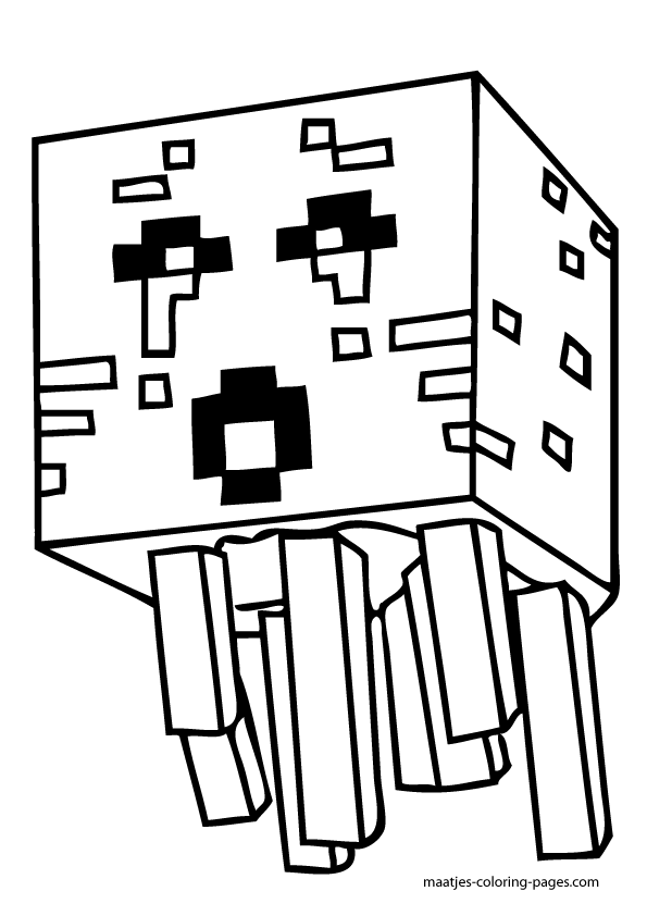 mutant minecraft coloring pages online - photo#24