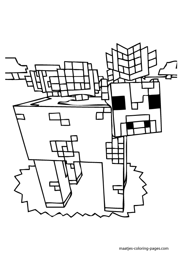 Minecraft Village Coloring Pages