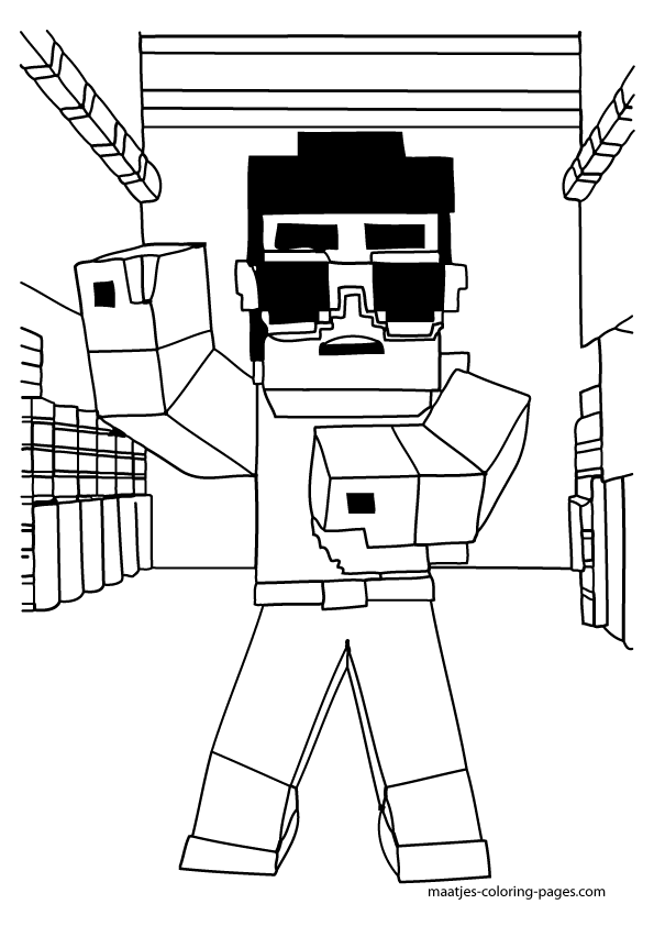 minecraft blocks coloring pages - photo#37
