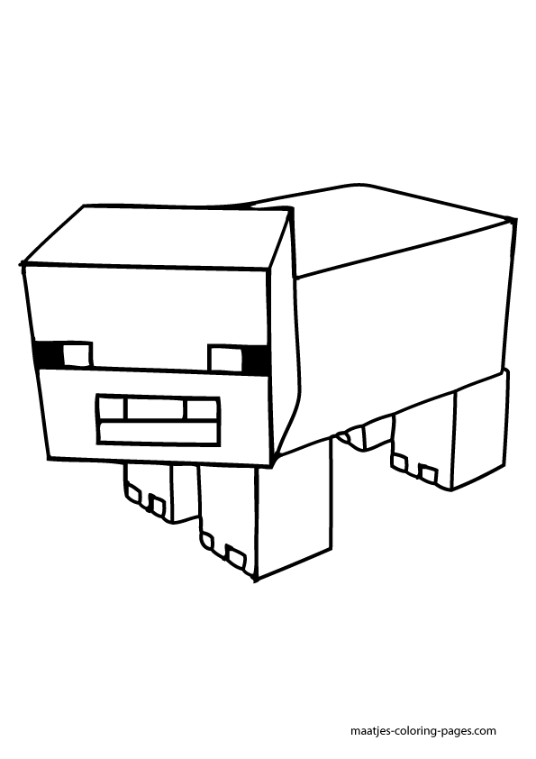Minecraft Furious Destroyer Coloring Pages Printable