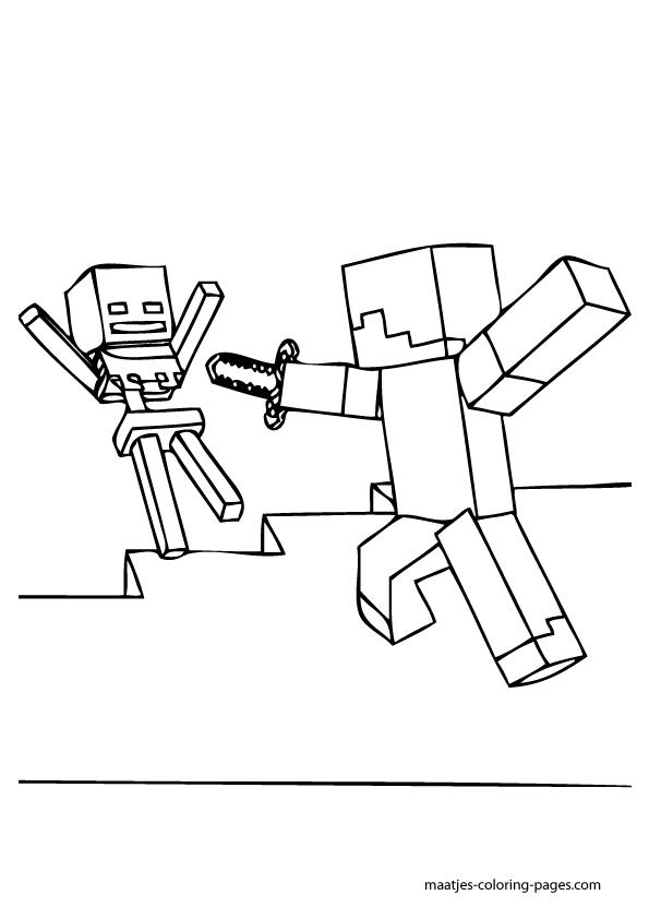 Minecraft World Free Coloring