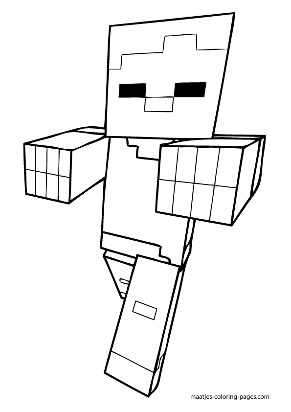 free minecraft enderman coloring pages - photo#31