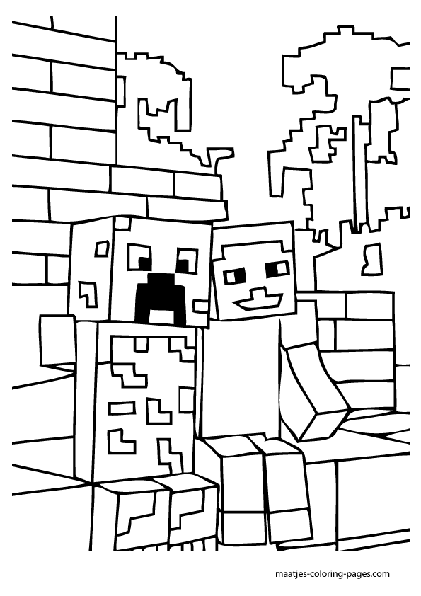 minecraft blocks coloring pages - photo#21