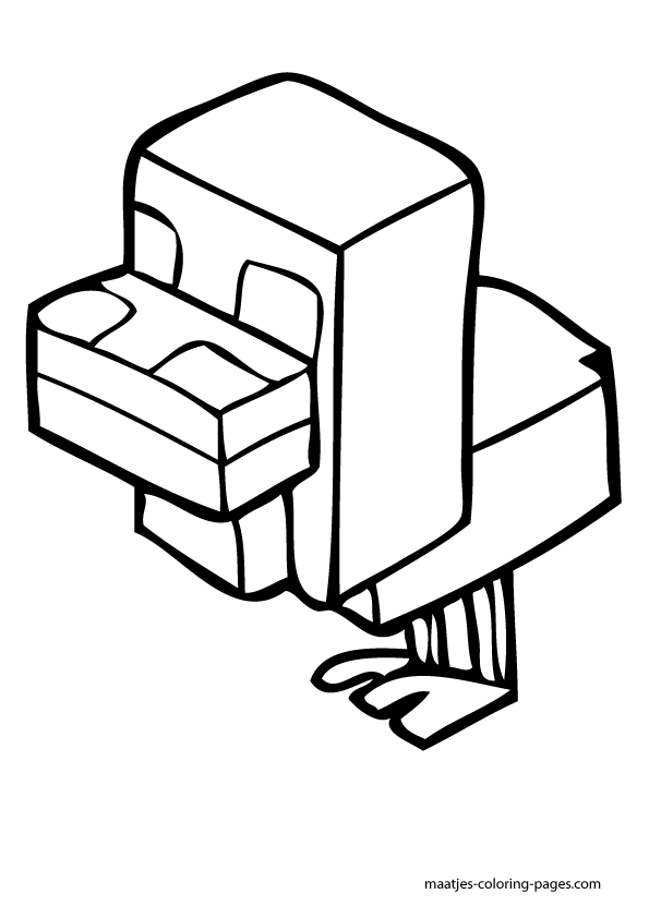 minecraft blocks coloring pages - photo#24