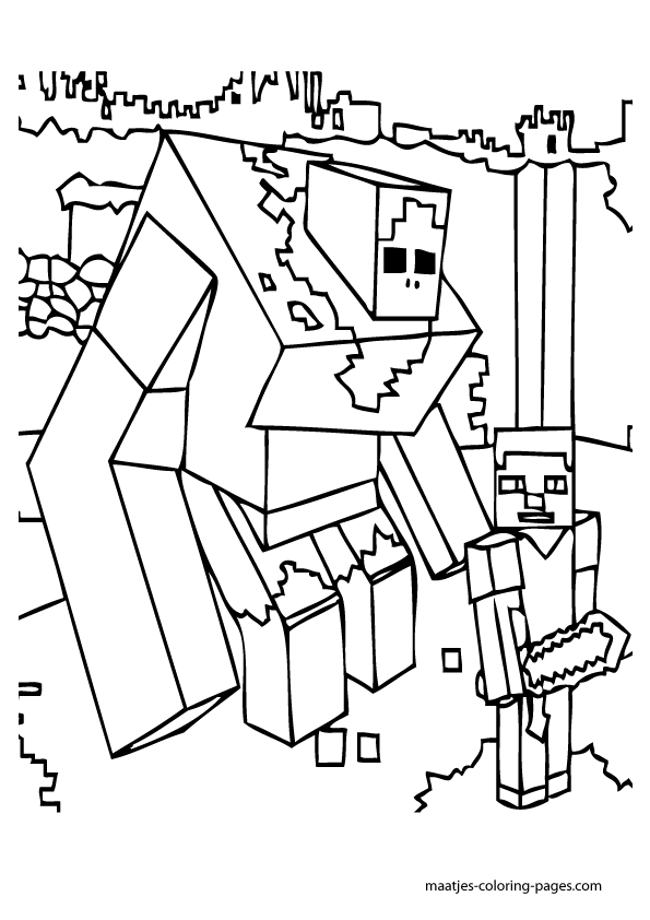 minecraft blocks coloring pages - photo#12