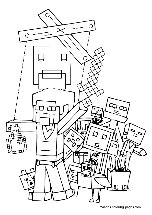 blocks coloring pages - minecraft blocks free colouring pages