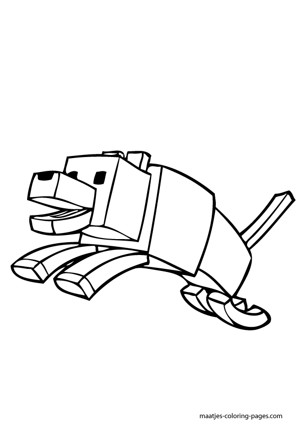 minecraft ocelot to coloring pages - photo#14