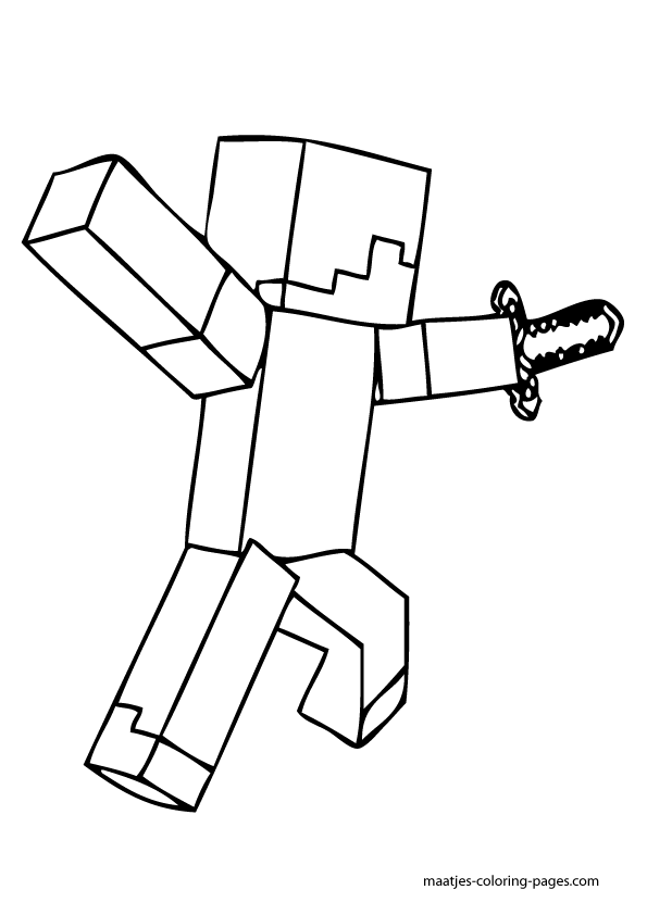 minecraft blocks coloring pages - photo#35