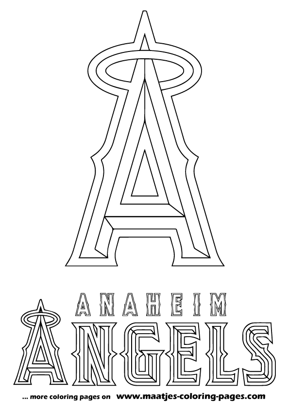 los angeles angels coloring pages - photo#5