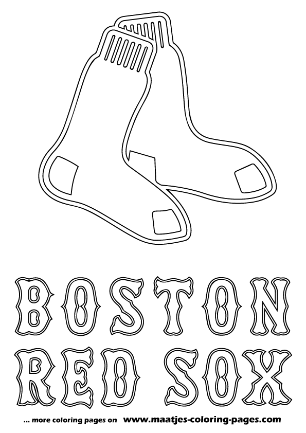 Mlb boston red sox logo coloring pages for Red sox coloring pages free