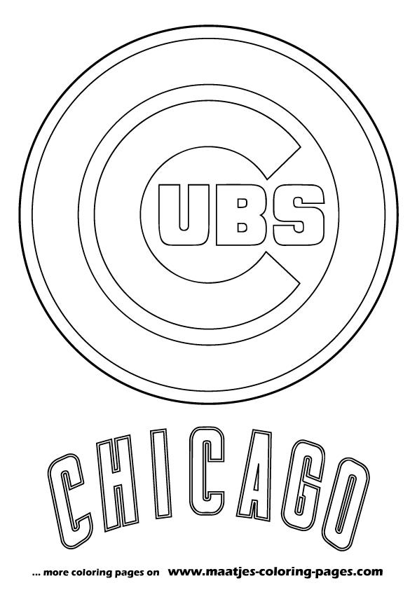 Mlb chicago cubs logo coloring pages for Mlb logo coloring pages