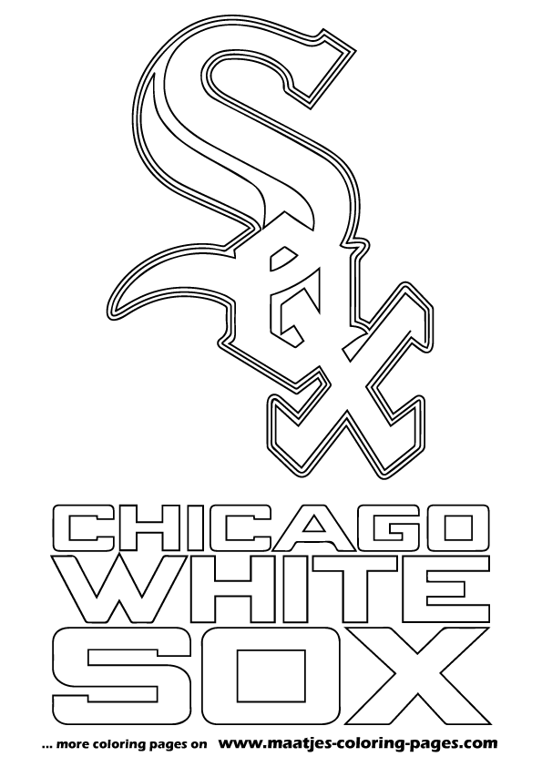 Mlb chicago white sox logo coloring pages for Mlb logo coloring pages