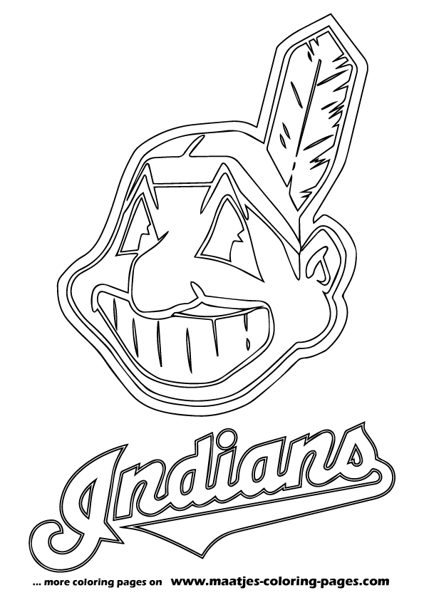 Wahoo cleveland indians coloring pages coloring pages for Mlb logo coloring pages