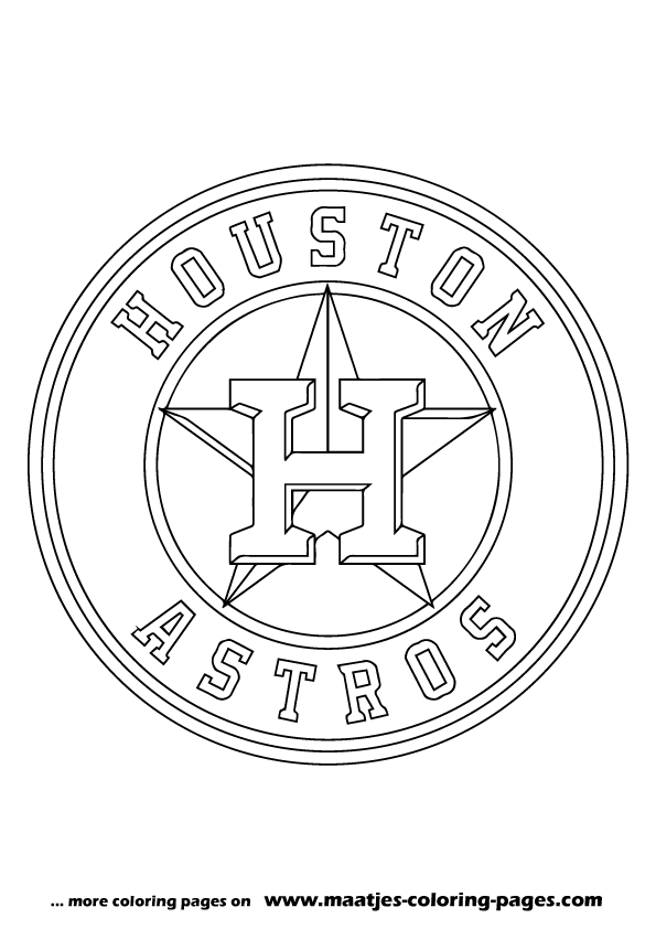 Mlb houston astros logo coloring pages for Mlb logo coloring pages