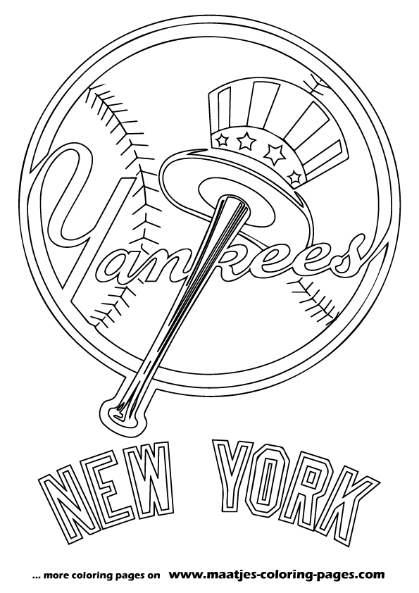 Baseball Coloring Pages Yankees