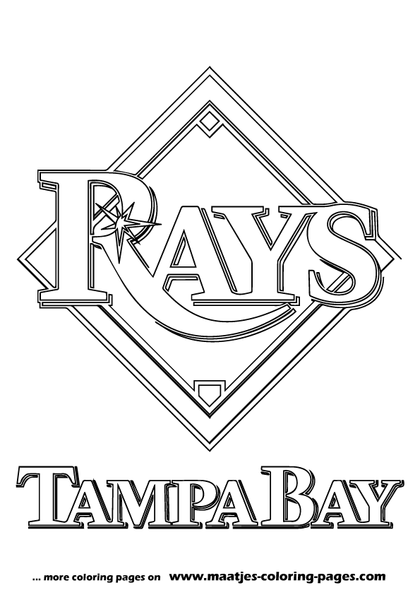 Mlb tampa bay rays logo coloring pages for Mlb logo coloring pages