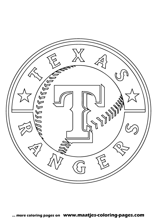 Mlb texas rangers logo coloring pages for Mlb logo coloring pages