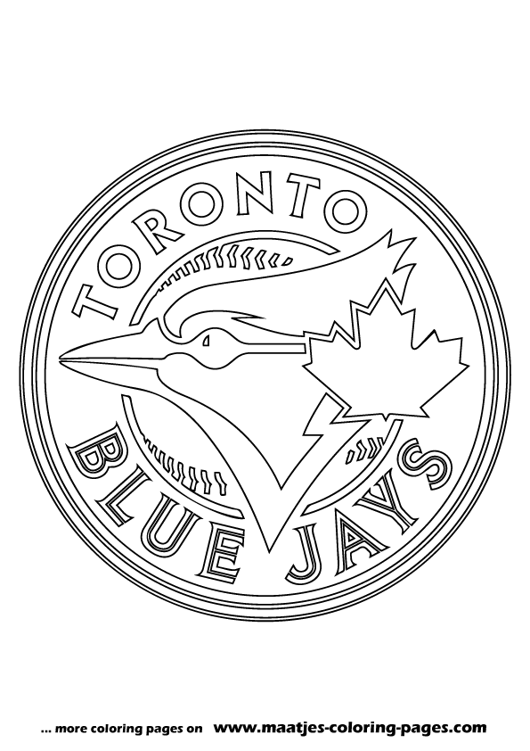 Toronto blue jays logo coloring pages sketch coloring page for Blue jay coloring page