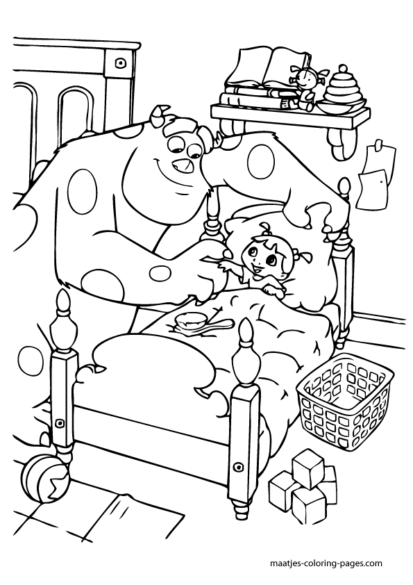monsters inc door coloring pages - photo#11