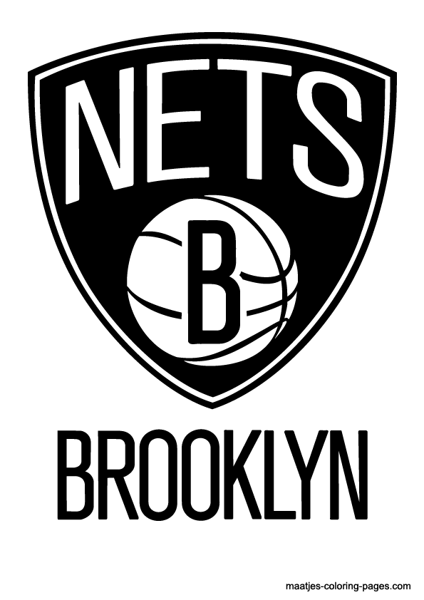 Brooklyn Nets NBA coloring pages