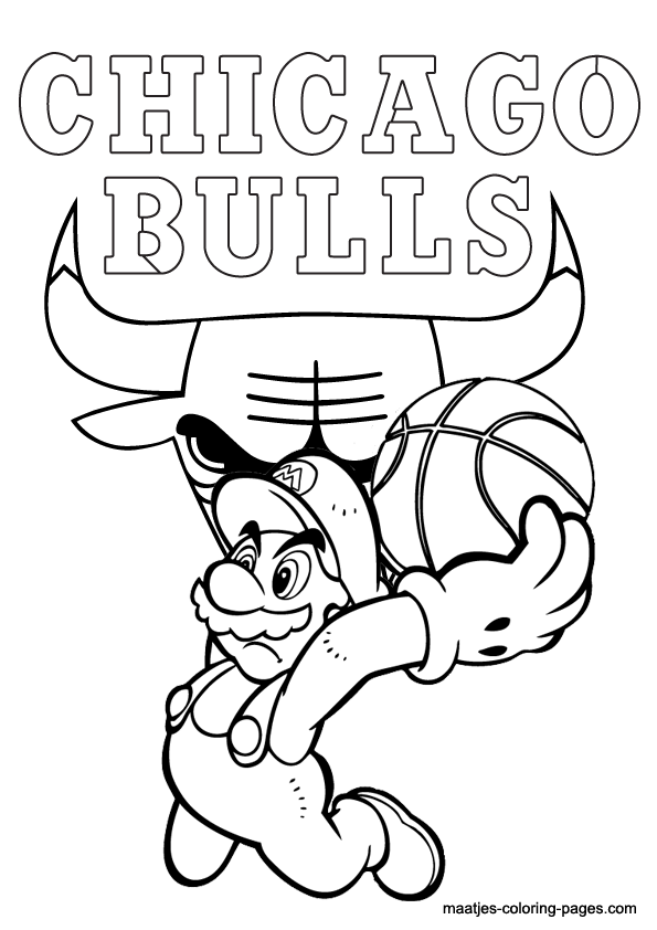 Chicago Bulls Coloring Sheets Printable Coloring Pages