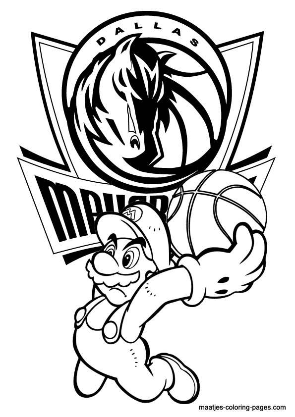 Coloring Pages Nba : New orleans hornets free colouring pages