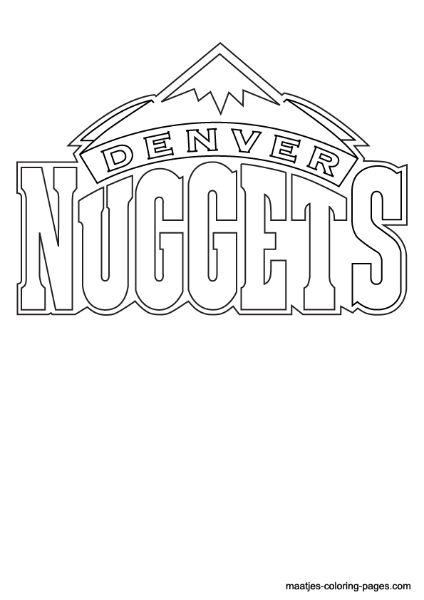 Denver nuggets free colouring pages for Nba logos coloring pages