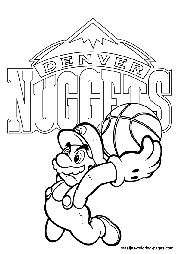 Denver broncos mascot page coloring pages for Denver broncos coloring pages print