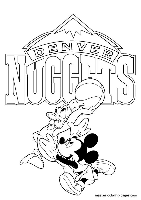 Denver Nuggets Nba Disney Coloring Pages