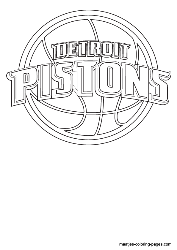 Nba detroit pistons logo coloring pages for Nba logos coloring pages