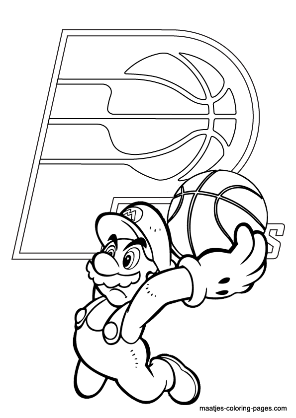 Pacers logo free coloring pages for Indiana pacers coloring pages