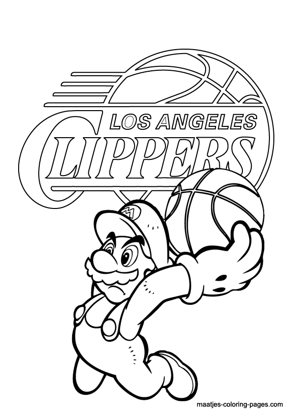 nba clippers coloring pages - photo#2