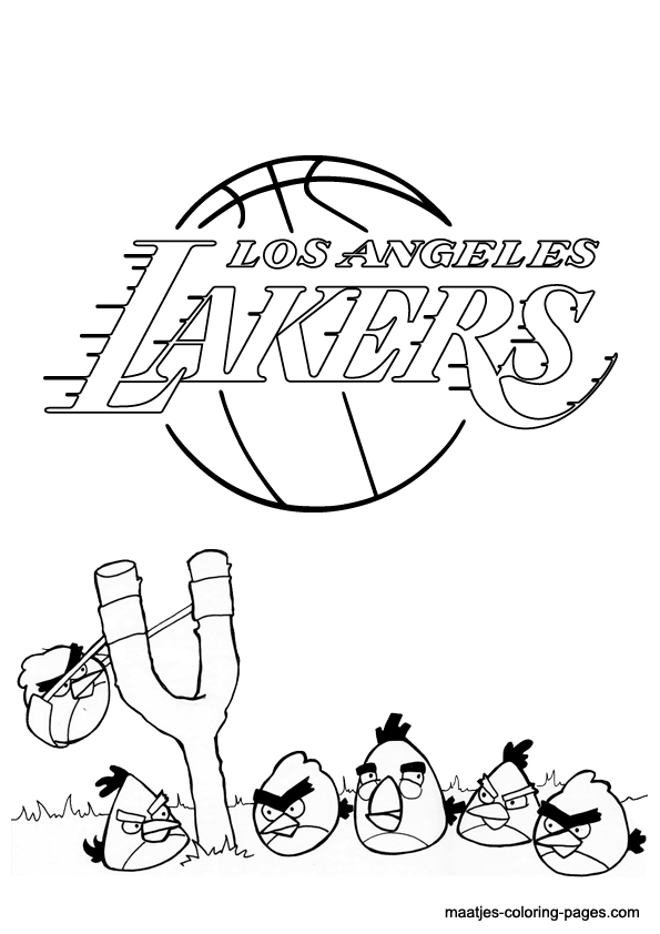 Angry Birds And Los Angeles Lakers Nba