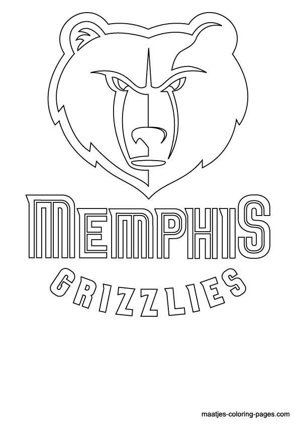 Nba Memphis Grizzlies Logo Coloring Pages