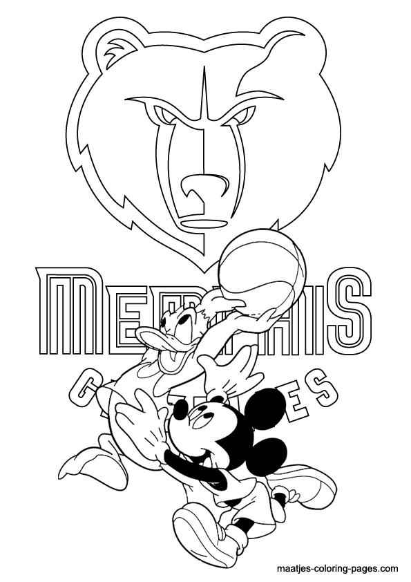 memphis grizzlies coloring pages - photo#10