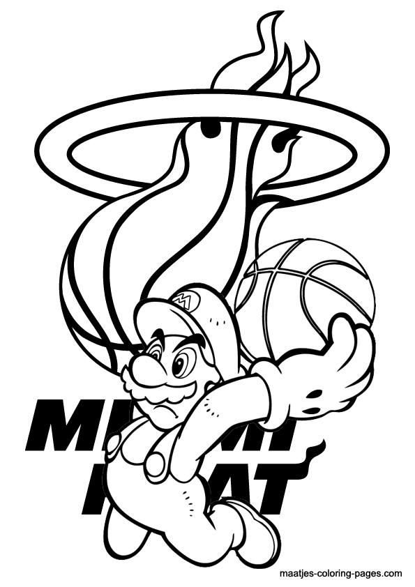 Miami Heat and Super Mario NBA