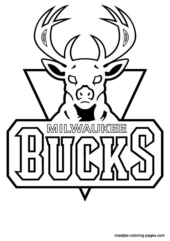NBA Milwaukee Bucks Logo Coloring Pages