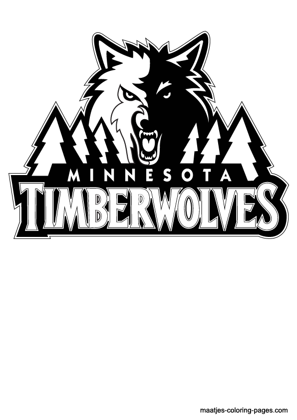 Minnesota timberwolves free colouring pages for Timberwolves coloring pages