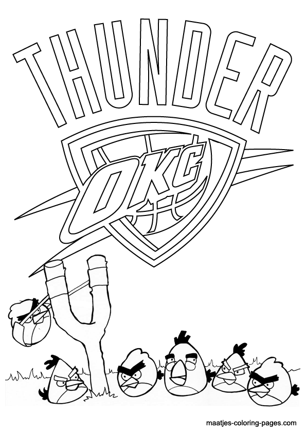 Oklahoma City Thunder Coloring Pages Oklahoma City Thunder And