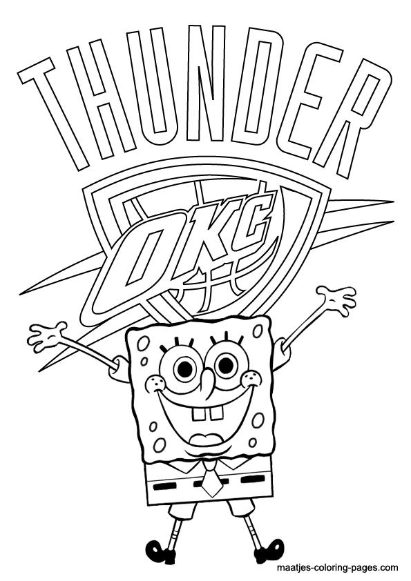 oklahoma city thunder logo coloring pageokc thunder logo coloring pages