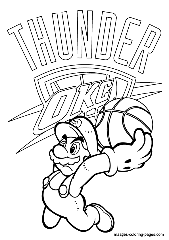 Oklahoma City Thunder Coloring Pages Oklahoma City Thunder Drawings
