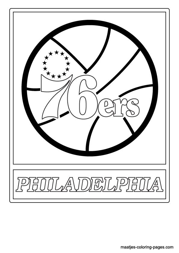 Nba Philadelphia 76ers Logo Coloring Pages