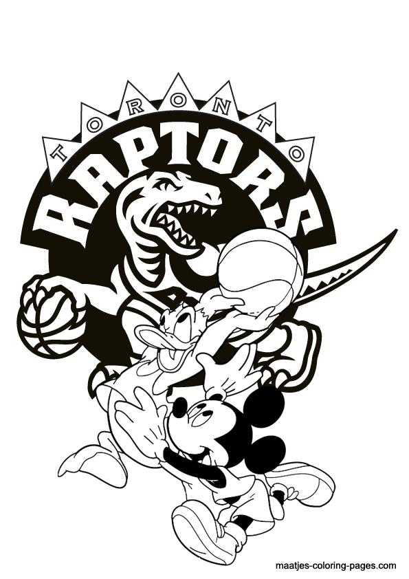 raptors coloring pages - photo #6