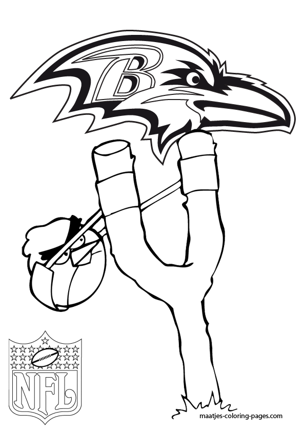 Raven Football Colors Ravens Football Coloring Pages