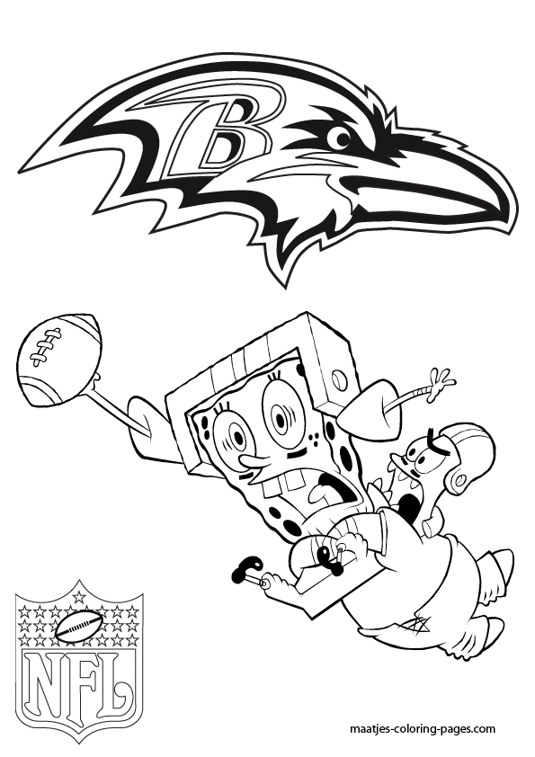 Ravens helmet free colouring pages for Free nfl coloring pages