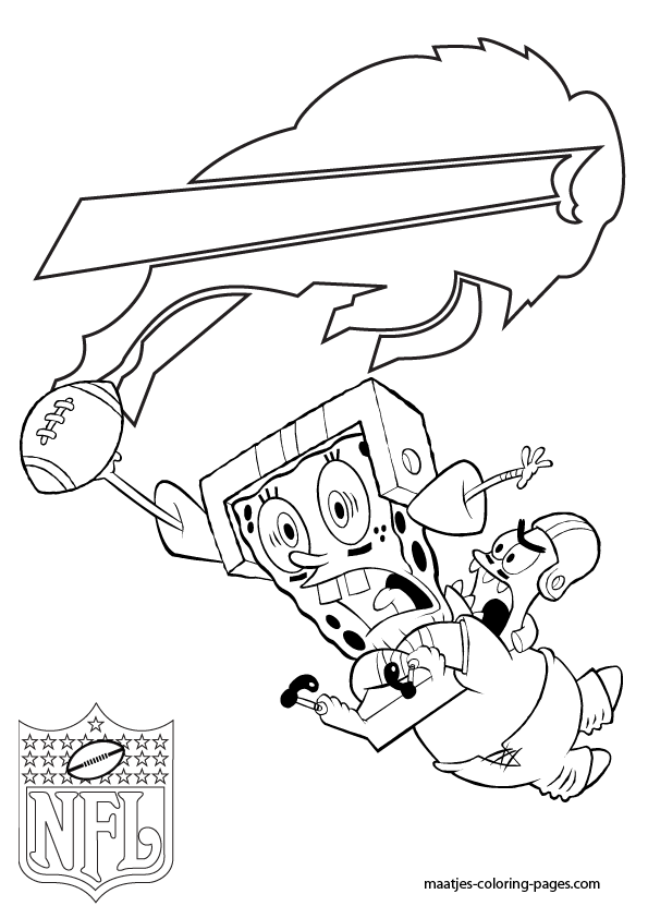 San Diego Chargers Patrick And Spongebob Coloring Pages